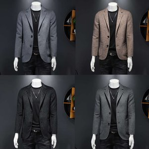 Autumn And Winter Double Faced Wool Casual Men's Yuppie Suit High End Thug Luxury One Piece Jacket