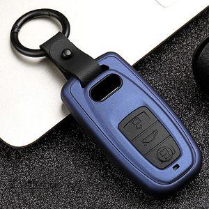 2020 Carbon Fiber Matte Car Key Case For AUDI A4 A7 A8 B9 TT TTS 8S 2016 2017 Quattro Q3 Q5 Auto Car Key Shell Case Cover Holder