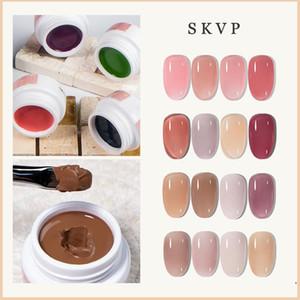 SKVP Clear Nail Varnish Mousse solid UV Gel Nail Polish 10ML Jelly Pink Nude Color Soak off UV LED Art Gel