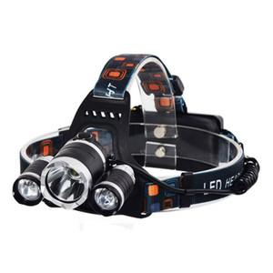 Nuovo 5000 lumen 3x XM-L 3T6 LED Bike Light Footlight Torcia Torcia per la caccia Camping XML T6 LED Headlamp 73 x2