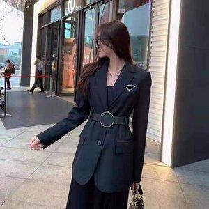 Kadın Ceket Sonbahar Bahar Stil Ince Kemer Için Bayan Ceketler Için Dış Giyim Coat Rüzgarlık Ile Klasik Giyim S-L