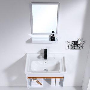 벽 장착형 세면대 캐비닛 조합 대형 아파트 화장실 세차 분지 미니 세라믹 분지의 간단하고 쉽게