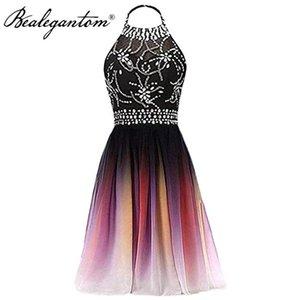 Party Dresses Bealegantom Short Gradient Prom Beaded Formal Homecoming Bridesmaid Gown Vestidos De Noite PD1333