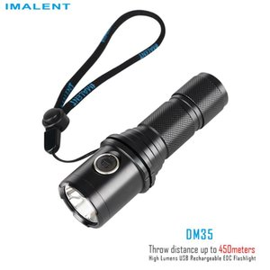 Flashlights Torches IMALENT DM35 Rechargeable Powerful 2000LM Waterproof Protable Cree XHP70.2 Outdoor Lighting With 21700 Batter
