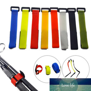 20pcs Fishing Rod Tie Holders Straps Belts Suspenders Fastener Hook Loop Cable Cord Ties Belt Fishing Tackle Fishing Accessories