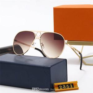 5A + Vente de qualité classique Cadre en métal Verre Verre Lunettes de soleil Sunglasses Hommes Femmes Design Vintage Oculos de Sol Masculino Gafas avec boîte d'accessoires