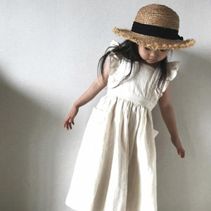 2020 New Brand Baby Girls Dresses Korean Japan Style Summer Kids Girls Dress Ruffles Kids Girl Clothing Causal Princess Dress