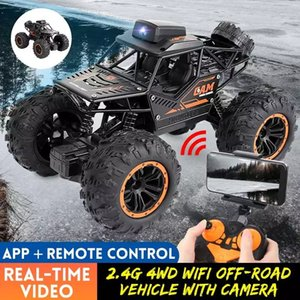 2.4G 4WD RC Car with WIFI FPV HD Camera Off-road High-speed Remote Control Drift Car Climbing Car Gift for Children
