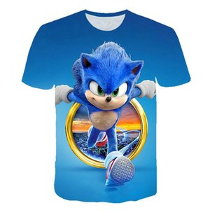 2020 new Men t-shirt3D sonic cartoon game print T-shirt girl summer top clothes anime T-shirt harajuku Clothing