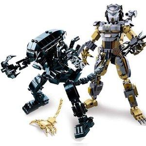 Mech Hero Iron Mecha Transformation Model Deformed Robot Warrior Kit Building Block Children's Toy Set