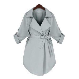 Women's Trench Coats 2021 Coat For Women Windbreaker Fashion Plus Size Spring Summer Long Black Manteau Femme JR5626