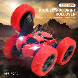 Remote Control Double-sided Stunt Car High Speed Climbing Tipping Bucket Cross Country Torsion Charging Fall Resistant Children's Toy