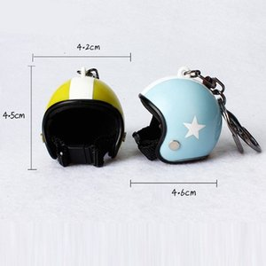 Automobile Motorcycle Helmet Keychains Keychain Cute Fashion Interior Decoration Ornament Accessories