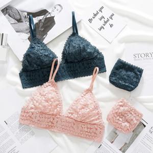 Novo Push Up BH Lcae Slips Lingerie Sexy Ees Beha Mulher Underwear Set Y8