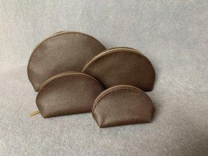 Бесплатная доставка Высочайшее качество Холст окисляющий кожаный косметический чехол M47515 Известный бренд дизайнер Zippy Toinky Bag Cateup Case