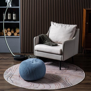 Living Room Furniture ottoman sturdy and durable functional stool or additional seating blue Hand-woven Sofa Footstool