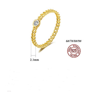 european and american 2021 new wedding ring for women bride S925 zircon plated 14k gold high quality ring gift with pouch jewelry