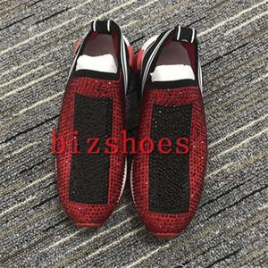 Elmas Slip-On Streç Örgü Çorap Sneakers Kauçuk Taban Kadın Ayakkabı İtalya Tasarımcı Sorrento Ayakkabı Adam Rahat Açık Eğitmenler