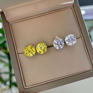 HBP fashion luxury jewelry pure Tremella nail zircon Korean temperament simple super flash simulation drilling anti allergy Earrings