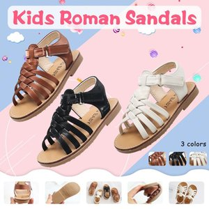 Sandals Girls Boys Genuine Leather Children Shoes For Flower Kids Fashion Baby Toddler Crossed Strap Beach