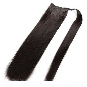 Hotsale 100% Human Remy hair Natural Black Color Hair Ponytail Horsetail Clips in on Human Hair Extension Free DHL