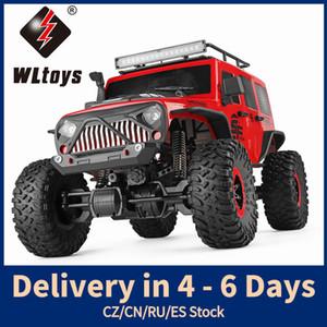 WLTOYS 104311 RC Araba 2. 1/10 Büyük Komik Araba SUV Fırçalanmış Motor Uzaktan Kumanda Off-Road Paletli Araba LJ200919
