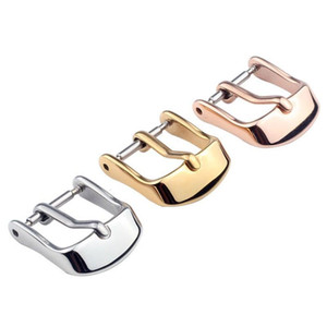 Stainless steel watch leather pin Silver Rose Gold strap buckle accessories