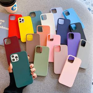 Ultra Slim Candy Color Téléphone Case Couverture TPU mous pour iPhone 12 11 Pro Max XR X Samsung S21 Note20 A12 A32 Huawei Y9S Mate40 Redmi 9T