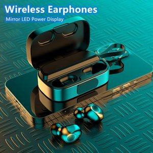 Wireless Headphones Bluetooth V5.0 Small Waterproof TWS Earphones LED Display With 3500mAh Power Bank Headsets With Microphone