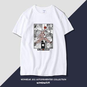 Slam dunk master short t-shirt men's new summer loose harden co branded cotton tide brand animation half sleeve