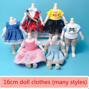 16cm Bjd Doll Clothes High-end Dress Up Can Dress Up Fashion Doll Clothes Skirt Suit Best Gifts for Children DIY Girls Toys L0308