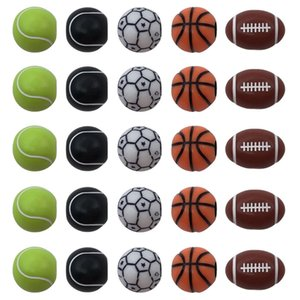 500pcs set Acrylic loose beads sports style round football soccer tennis basketball plastic bead for Jewelry making component