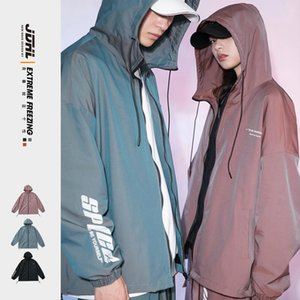 2021 spring New Couple Jackets Reflective Men's Casual Oversize Coat Hip Hop Woman Streetwear Fashion Clothing