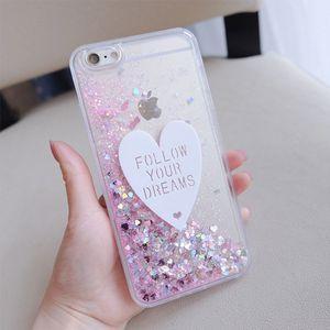 3D Love Hear Glitter Liquid Quicksand Soft TPU Phone Cases For Samsung Note20Plus S20Plus S10Plus Note9 note8 note10 A20 A40 A50