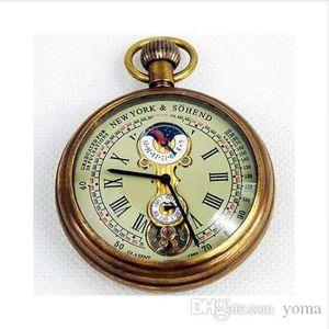 1882 'S Ny Tourbillon Pure Copper Antique Pocket Watch