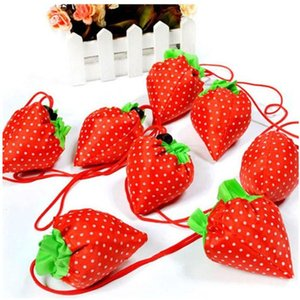Armazenamento bolsa de bolsa de morango uvas abacaxi bolsas de compras reutilizáveis Mercearia dobrável nylon grande bolsa aleatória yhm465