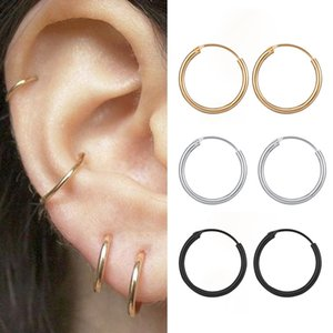 Brief Circle Round Earrings 3 pair set 3 Sizes Fashion Gold Silver Color Alloy Earrings For Women Punk Hip Hop Hoop Huggie Jewelry