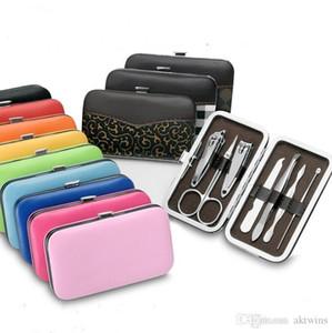 Prego Clippers Kit Tesoura Tweezer Faca De Faca De Orelha Utility Manicure Set Definido Aço Inoxidável Nail Set Tool Sets 7 PCS / Set LXL871-1
