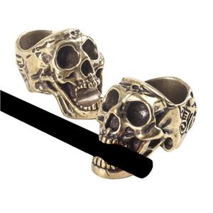 Новый стиль портативный череп сухой травматический табачный сигар сигарета для курения кронштейн кронштейн пальцев клип кольцо стенд базовый держатель высокого качества DHL бесплатно