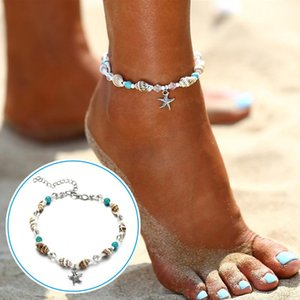 Anklets 2021 Conch Starfish Pendant Beach Anklet For Women Girls Summer Supply Bohemia Ankle Chain Jewelry Gift NOV99