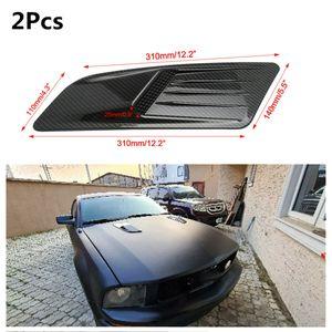 1 пара автомобиля углеродное волокно выглядят воздушным потоком впускной капот вентиляционного капота крышки с клейкой