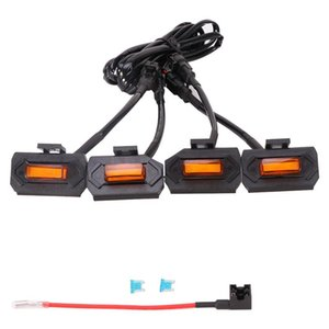 Car Headlights Black Shell LED Grill Lights Easy Install Universal Save Energy Vibration Resistant Compatible Off Road With Fuse Emergency