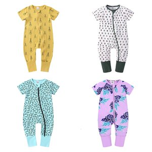 2021 New Fashion Newborn Girl Summer Cotton Romper Short Seee Baby Clothes Unisex Toddler Costume 3-24 Months Lby0