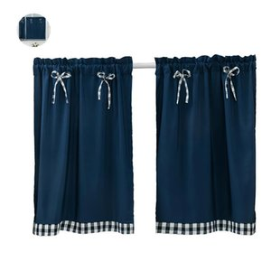 Curtain & Drapes Blackout Short Curtains For Bedroom Living Room Window Treatments Blinds Kitchen Small Bow-Knot Home Decor