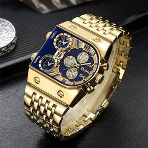 Дизайнерские часы Марка Часы Роскошные Часы Мужчины Военный Водонепроницаемый Запястье Золото Нержавеющая Сталь Мужской Relogio Masculino