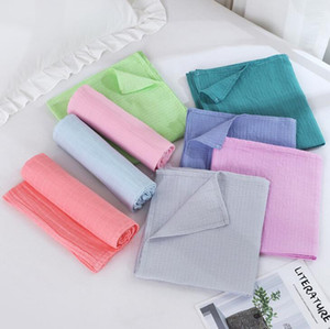 Baby Blankets Cotton Air Condition Blankets Kid Soft Knitted Casual Wrap Swaddle Parisarc Pram Stroller Blankets Cover Nursery Bedding YL344
