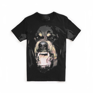 2021 Top Quality Mens Women Dog Pattern Print T Shirts Black Men Womens High Oversize Short Sleeve Tees Top Designer Clothes Size S-3XL