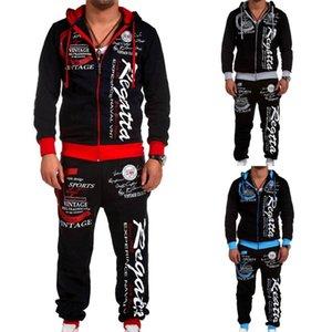 Mens Tracksuit Two Pieces Set Men's Outfits Long Length Sports Wear Casual Sweatsuit Jogger Pants Men Clothing Set