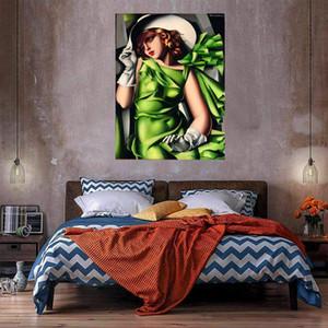Tamara Lempicka Jovem senhora com luvas Grande pintura a óleo sobre canvas home decoração handcrafts / hd impressão de parede de parede foto 210316