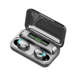 Earphones f9-5c TWS Bluetooth 5.0 Wireless Headphones 9D Stereo Sport Waterproof Wireless Earphone Touch Control Headset earbuds